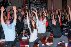 Rabbi Elissa Sachs-Kohen started a yogathon  to raise money for the National Lung Cancer  Partnership after her mother died of lung cancer.