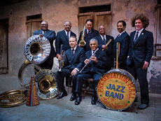 Ben Jaffe (right) and the Preservation Hall Jazz Band play at the Meyerhoff Symphony Hall on Nov. 29, Nov. 30 and Dec. 1.