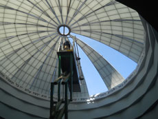"""The light coming through the new dome """"is pristine white all the way."""" (provided)"""