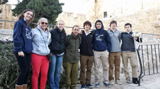 Baltimore-area players and coaches joined Israeli lacrosse teams during a recent program sponsored by the  Israel Lacrosse Association. Attendees were (from left) Lilly Pollak, Davia Procida, Sarah Meisenberg, Michael Pfeffer, Jake Gavilow, Drew Saltzman, Jordan Abel and Max Wendell. (Provided)