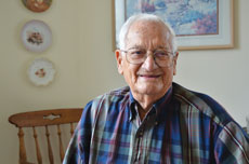 Chester Silverman devotes time and energy to improving the lives of war veterans. (Melissa Gerr)