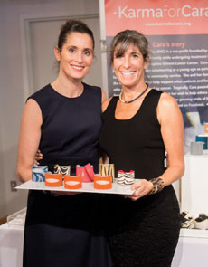 From left: Jenny Benscher and Jill Becker at Ruth Shaw after a recent trunk show. (David Stuck)