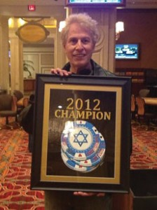 Terry Fleischer won $14,845 at last year's Jewish Poker Championship. (Provided)