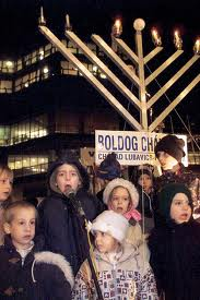 Jews celebrate Chanukah in Budapest, Hungary.