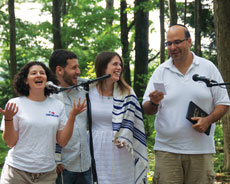 Alison Petok and fiance Dan  Slipakoff held their aufruf  at Camp Harlam, where  they met many years ago.  (provided)