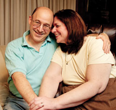 Sharon and Eric Rubin got engaged on the shoulder of the PA Turnpike (David Stuck)