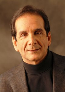 Charles Krauthammer shared his perspectives on domestic and foreign affairs at Beth Tfiloh Congregation's inaugural Dahan Lecture on May 4. (Provided)