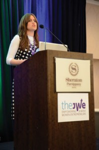 JWE president and founder Chaya Appel Fishman welcomed more than 400 attendees at the recent conference in Parsippany, N.J. (Photos by Melissa Gerr)