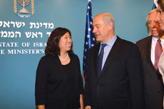U.S. Rep. Grace Meng (D-N.Y.) meets with Israeli Prime Minister Benjamin Netanyahu. She first met him when she was in law school. (Courtesy of Congresswoman Meng's office)