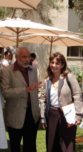 Anat Bernstein-Reich, president of the Israel-India Friendship Association and vice president of the Israel-Asia Chamber of Commerce, meets with Narendra Modi in Israel in 2007. Modi is India's newly elected prime minister. (Courtesy of Anat Bernstein-Reich)