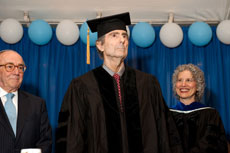 Philip Roth receives an honorary doctorate at the Jewish Theological Seminary's commencement in New York. (provided)