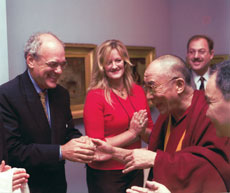 Shep Gordon's life has been filled with relationships with celebrities, including the Dalai Lama. (Courtesy of RADiUS-TWC)