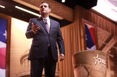 Texas Sen. Ted Cruz addresses  the Conservative Political Action Conference in National Harbor, Md. (Gage Skidmore via Wikimedia Commons)