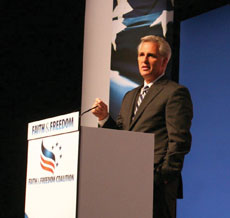 House Majority Leader-elect Kevin McCarthy was one of many guest speakers at the conference.
