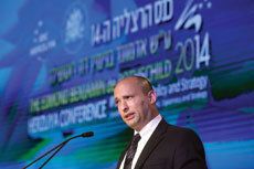 Israel's economy minister, Naftali Bennett, was one of five politicians who spoke at the annual Herzliya Conference last month. (Gideon Markowicz/FLASH90)