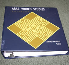 "The ""Arab World Studies Notebook,"" an anti-Israel text, has appeared in the public school curriculum of Newton, Mass. (Amazon/JNS)"