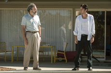 "Mandy Patinkin and  Zach Braff play a father  and son trying to repair their relationship in Braff's new film ""Wish I Was Here."""
