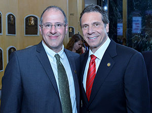 Cooperstown Mayor Jeff Katz (left) and New York Gov. Andrew Cuomo enjoy a May visit to the Hall of Fame. (Courtesy of Jeff Katz)