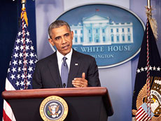 "President Obama called the civilian deaths in Gaza ""indefensible."" (Polaris/Newscom)"