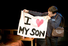 Jeffrey Solomon, who wrote the play,  portrays both son and mother. (Provided)