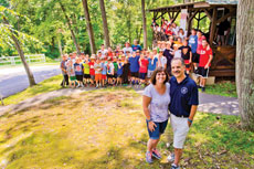 """For Rick Frankle, pictured here with his wife Pam, Camp Airy has been """"a blessing."""" (David Stuck)"""
