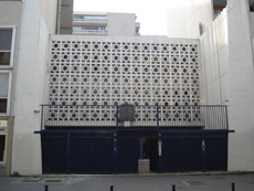The Don Isaac Abravanel synagogue in central Paris, which was recently attacked by pro-Palestinian demonstrators. (Wikimedia Commons)