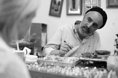 Jeweler Doron Cohen creates delicate silver filigree jewelry inspired by Torah and Kabbalah. His studio is based in Safed, Israel, and he is touring the East Coast this month. (Provided)