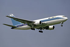 An El Al plane. The Israeli airline has been among the companies receiving loan guarantees from the United States Export-Import Bank, which faces an uncertain future. (Steve Fitzgerald via Wikimedia Commons)