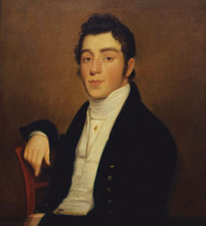 Mendes Cohen (Portrait of Mendes Cohen, 1818 by Joseph Wood. Courtesy of the Smithsonian American Art Museum)