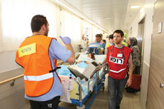 Rambam Health Care Campus patients are transported to the facility's fortified underground hospital.
