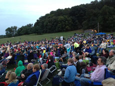 Close to 4,000 people attended Rosh Hashanah Under The Stars at Oregon Ridge Park on Sept. 24. (Marc Shapiro)