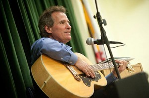 Author and songwriter Barry Lou Polisar records his self-written songs. He is one of the nine authors presenting at the Jewish Literary Festival. (Provided)