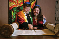 The author and her brother had the same Torah portion two-and-a-half years apart. (Provided)