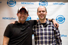 NewsUp founders Andrew Schuster (left) and Coleman Anderson. Photo by Marc Shapiro