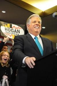 Republican Larry Hogan declares victory. (Lloyd Wolf)