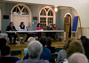 The Worthingron Park Homeowners Association met with officials from The Associated about a proposed 56-house development on the campus of the Rosenbloom Owings Mills JCC.