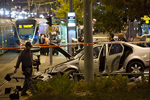 The Ammunition Hill light-rail station was the scene of a terrorist attack on Oct. 22.