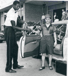 Wilt Chamberlain worked as a bellhop at Kutsher's before going on to fame and  fortune as one of the NBA's all-time greats.