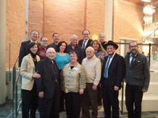 Fourteen area rabbis were featured at Howard Community College for the Global Day of Jewish Learning. (Melissa Apter)