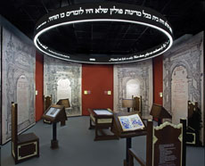 Featured in the POLIN Museum are  two magnificent galleries — The Jewish  Town (left) and The Paradisus Iudaeorum.