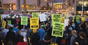 At least four protests took place in Baltimore on Tuesday, Nov. 25, the day following the grand jury announcement, including those at Morgan State University, the University of Baltimore School of Law, McKeldin Square and Baltimore City Hall.