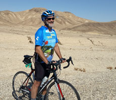 Bob Roswell biked the Arava Institute Hazon Israel Bike Ride for the first time. Riders raised more than $600,000 for the two organizations. (Provided)