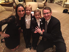 Ryan Porter, with wife Monica and sons Zackary, 5, and Joshua, 3, says it can be difficult to teach his kids about Chanukah when presents excite them the most. (Provided)