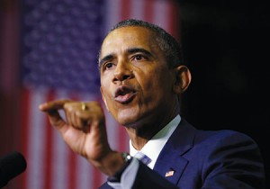 President Barack Obama speaks about  community college education during a visit to Pellissippi State College in Knoxville, Tenn.