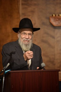 Just weeks before he passed away, Rabbi Dovid Edelman spoke at the special 90th birthday celebration at the Lubavitcher Yeshiva Academy, where he was director for over 64 years. (Provided)