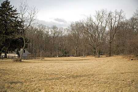 Rabbi Velvel Belinsky plans to build a 4,000-square-foot synagogue on this Stevenson Road property. (Marc Shapiro)