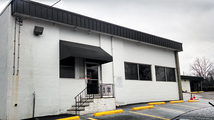 This building on Newberry Street near Kelly Avenue has become a heated point of contention between the lease-seeking Maryland Addiction Recovery Center and Mount Washington residents. (Heather Norris)