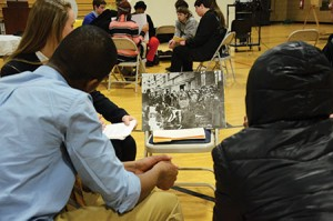More than 200 students across Baltimore City and County participate in a day-long Holocaust curriculum to learn lessons of tolerance and compassion at the John Carroll School. (Melissa Gerr)