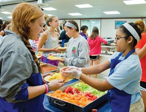 Campers are encouraged to make their own food choices at Camp Louise.