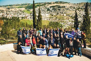 Members of this winter's Mayanot Birthright bus no. 140 are among the approximately 350,000 Jews ages 18 to 26 have taken Birthright trips since 2000.